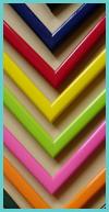 Zestaw wąskich kolorowych ramek